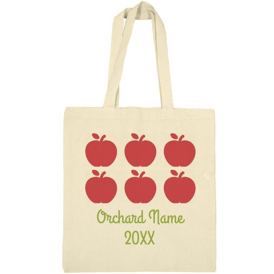 Custom Orchard Apple Picking Tote