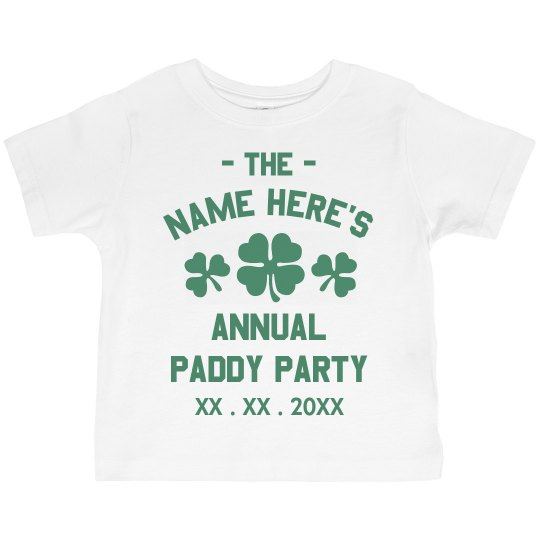 Custom Paddy Party Tee