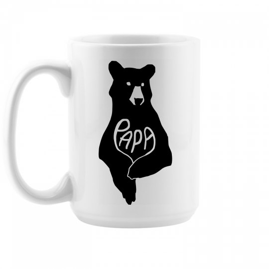 Custom Papa Bear Coffee Mug