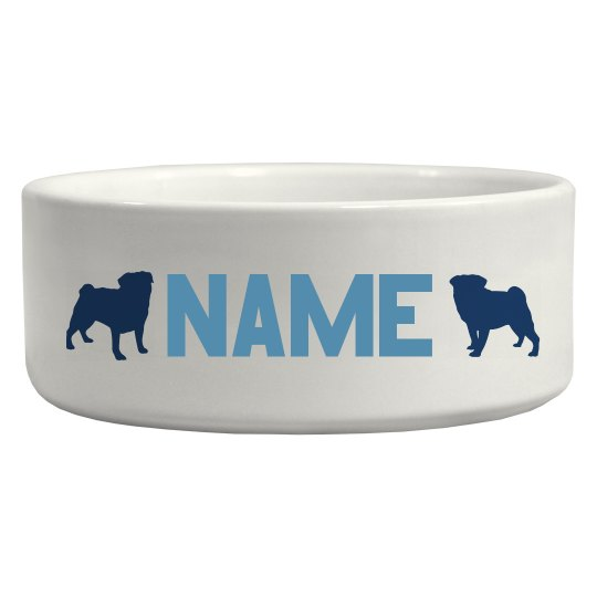 Custom Pet Bowl for Pugs