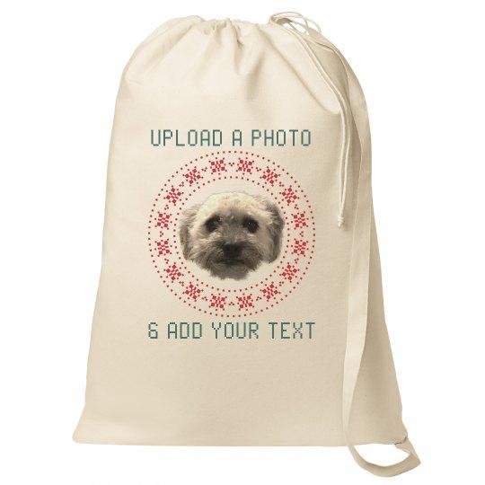 Custom Pet Photo Santa Bags