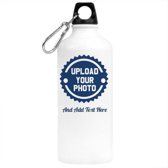 Custom Photo & Text Water Bottle