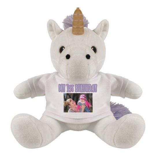Custom Photo 1st Birthday Unicorn Gift