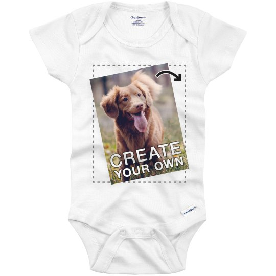 Custom Photo Baby Onesie