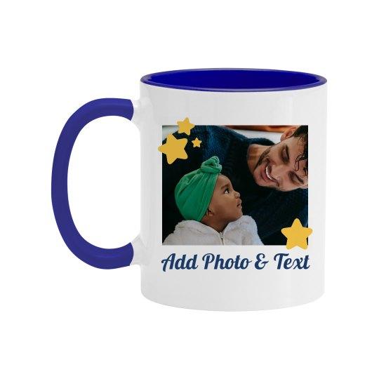 Custom Photo Father Stars Mug