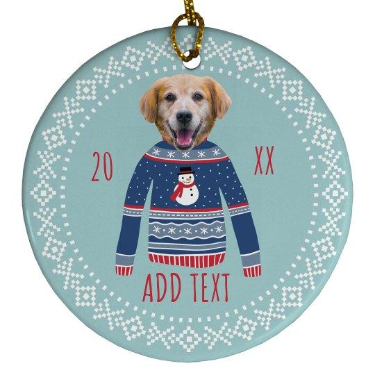 Custom Photo Funny Holiday Ornament