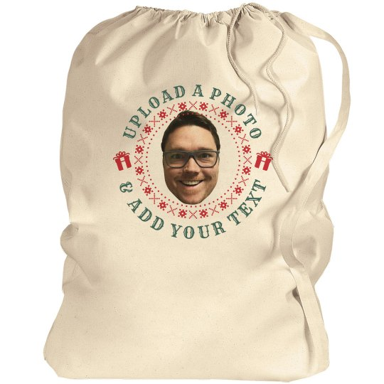 Custom Photo Funny Santa Bags