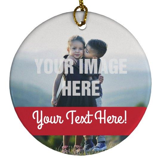 Custom Photo Happy Holidays Decor