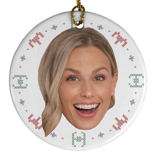 Custom Photo Holiday Knit Spaceship Ornament