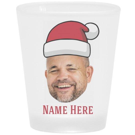 Custom Photo Santa Shot Glass