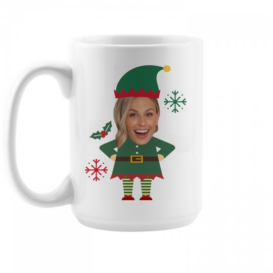 Custom Photo Upload Elf Mugs