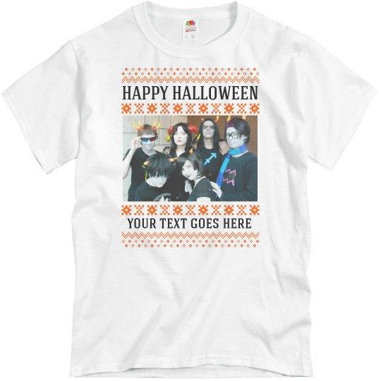Custom Photo Upload Halloween Shirt