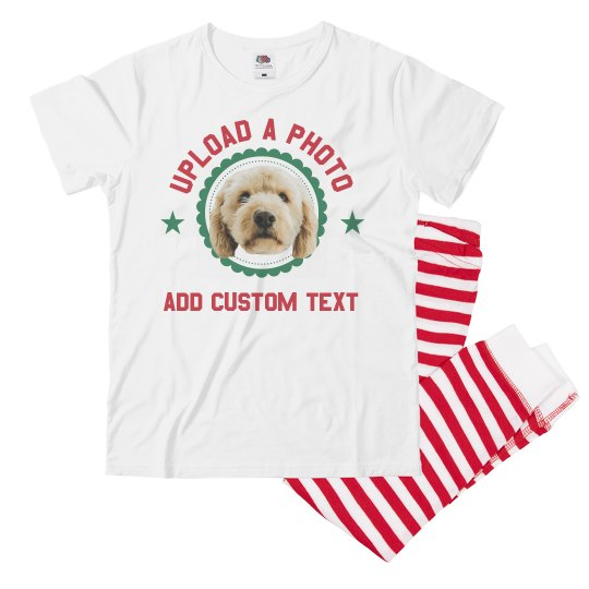 Custom Photo Upload Xmas Pet Jammies