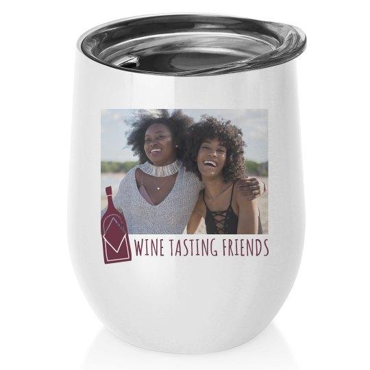 Custom Photo Wine Weekend Tumbler