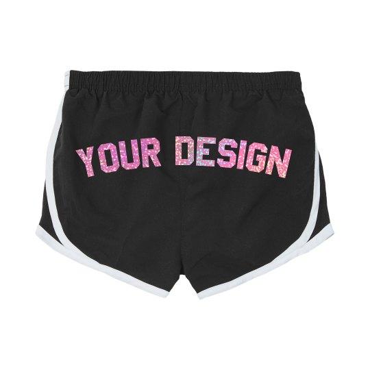 Custom Pink Glitter Cheer Shorts