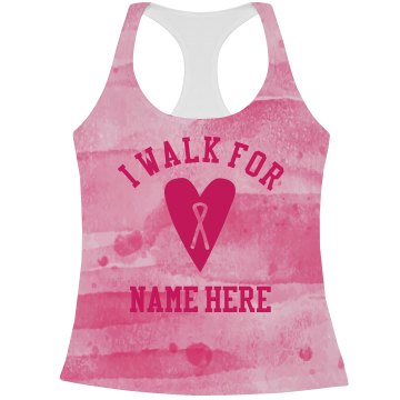 Custom Pink Watercolor Breast Cancer