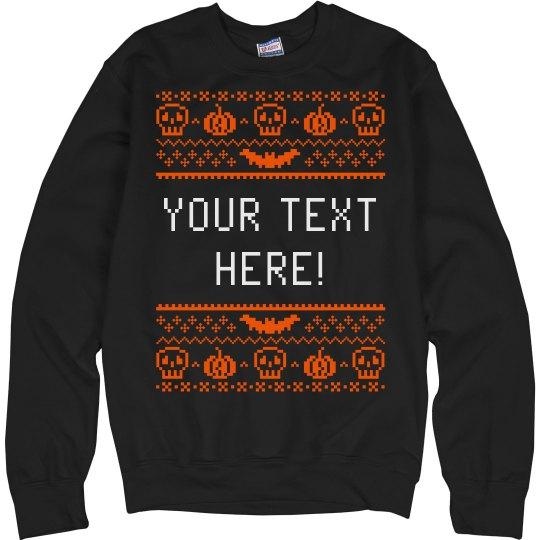 Custom Pixel Halloween Sweater