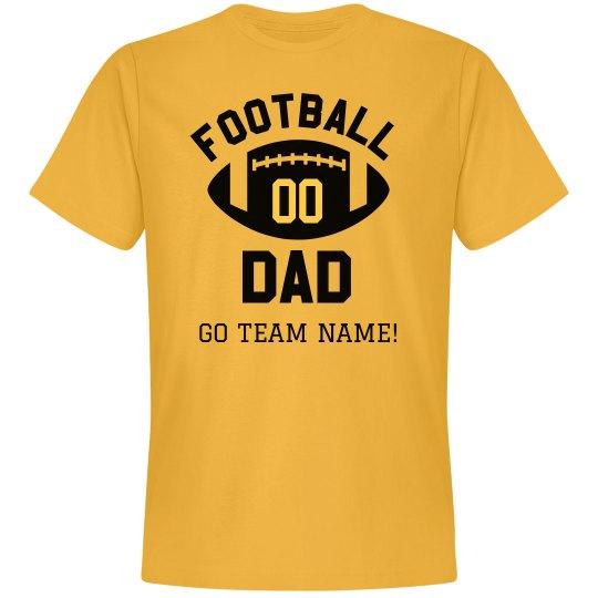 Custom Player & Team Name Football Dad
