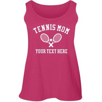 Custom Plus Size Tennis Mom