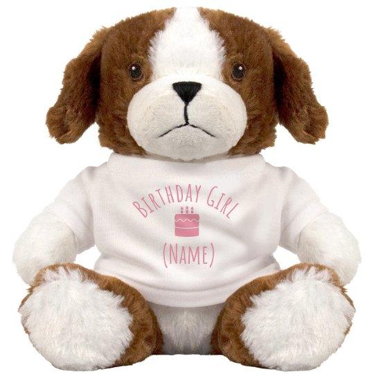 Custom Plush Birthday Puppy