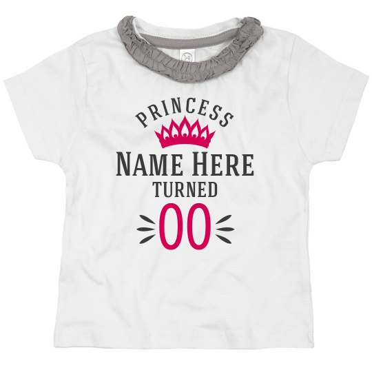 Custom Princess Birthday Top