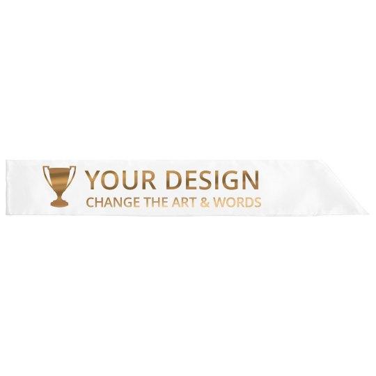 Custom Prize Metallic Sash