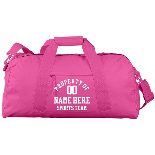 Custom Property Of Sports Bag
