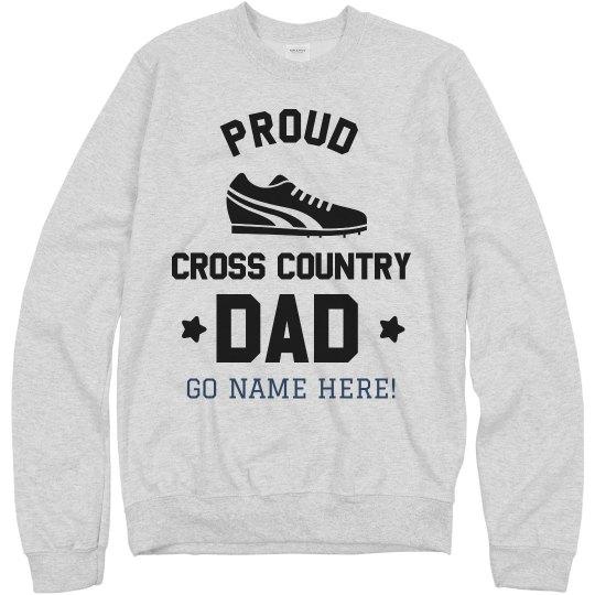 Custom Proud Cross Country Dad