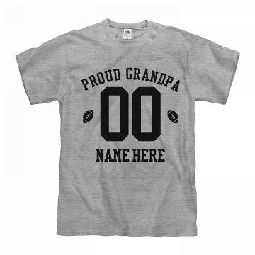 Custom Proud Football Grandpa