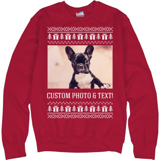 Custom Puppy Ugly Sweater