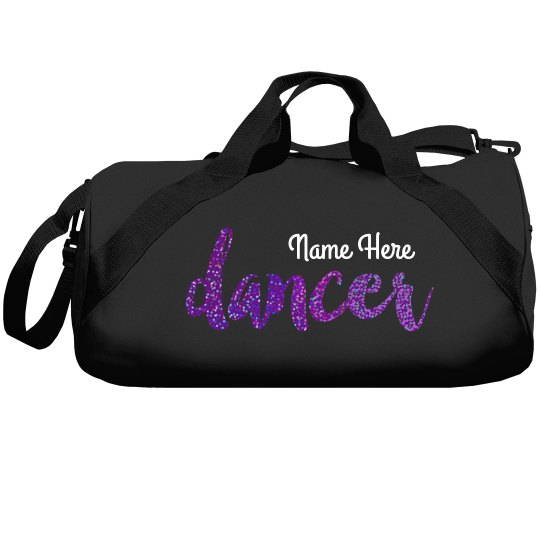 Custom Purple Glitter Dance Bag