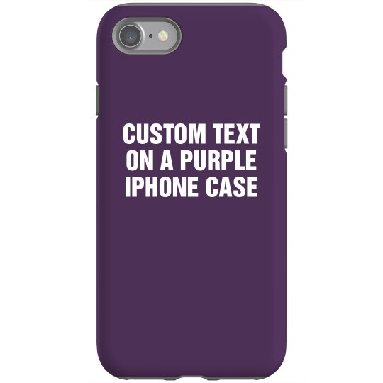 Custom Purple iPhone Case