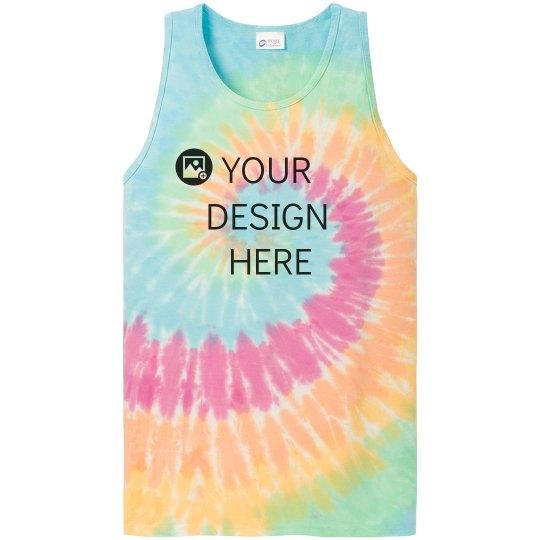 Custom Rainbow Tie-Dye Tank
