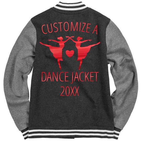 Custom Red Metallic Dance Jacket