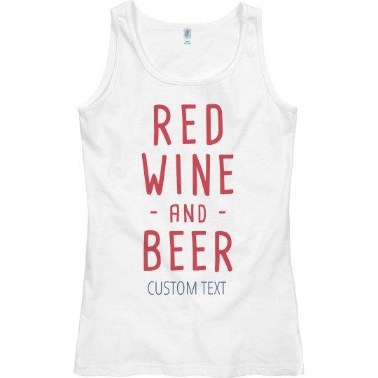 Custom Red Metallic Red Wine Beer Slub