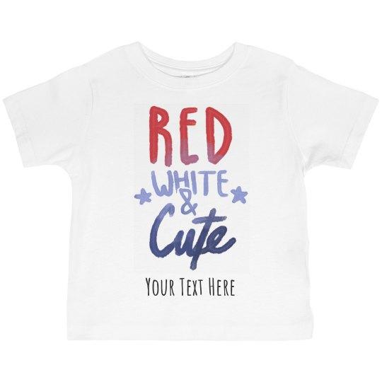 Custom Red, White, & Cute