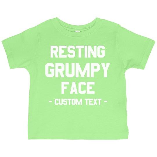 Custom Resting Grumpy Face Toddler