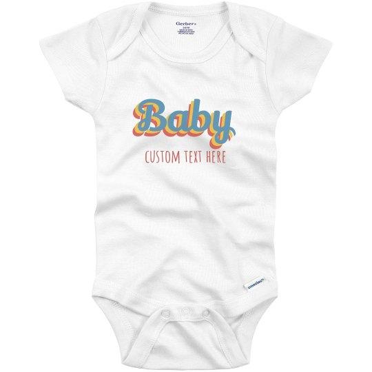 Custom Retro Baby Onesie