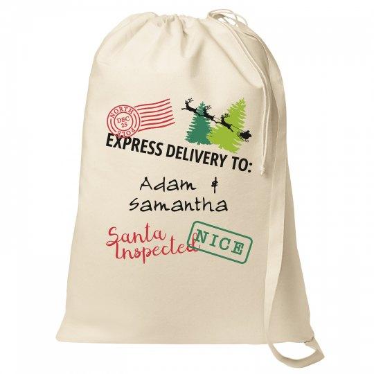Custom Santa Bag North Pole Mail