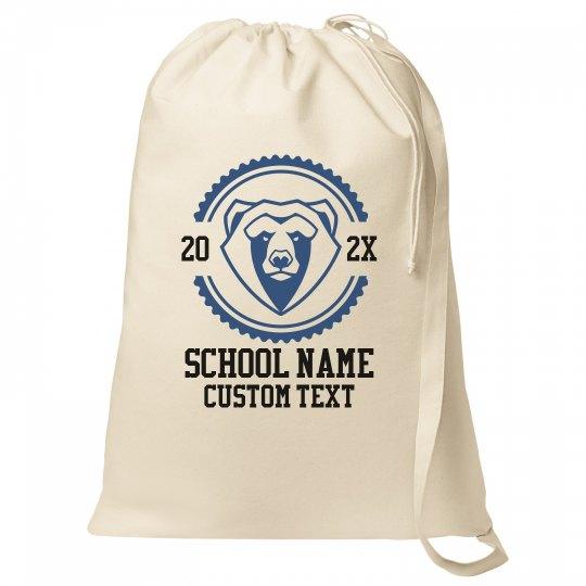 Custom School & Mascot Laundry Bags