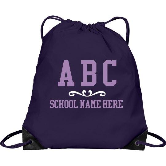 Custom School And Initials Bag
