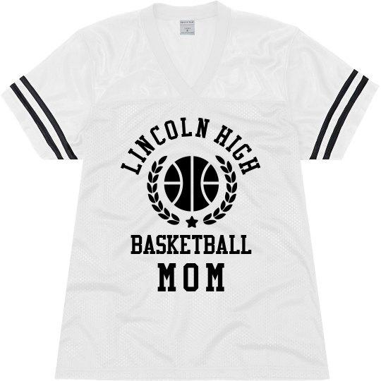 Custom School Basketball Mom Jersey