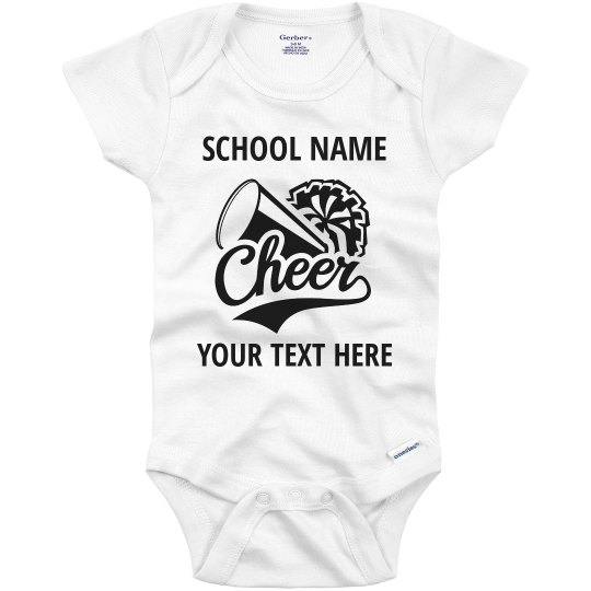 Custom School Cheerleader Spirit