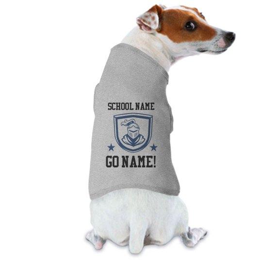 Custom School Mascot Dog Tee