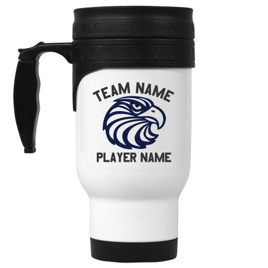 Custom School Mascot Travel Mug