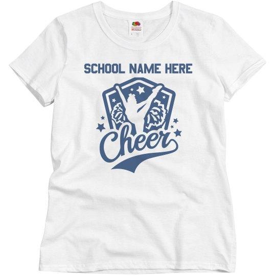 Custom School Name Cheerleader Mom