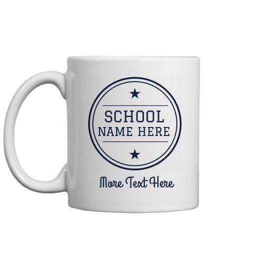 Custom School Name Teacher Gift