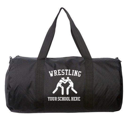 Custom School Name Wrestling Day Trip Bag