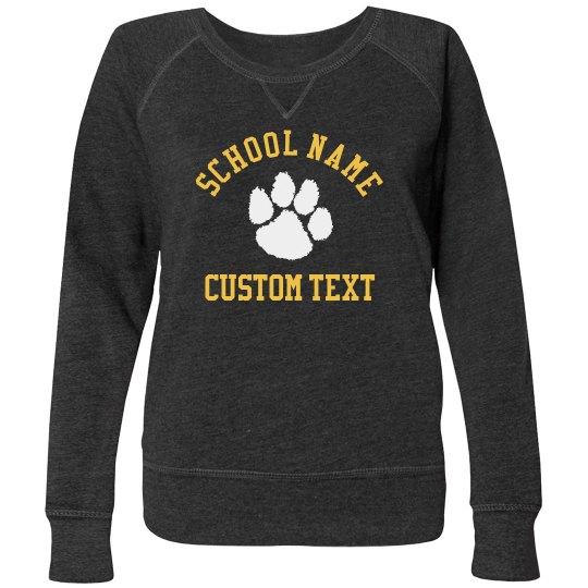 Custom School Pluss Crewneck Sweater