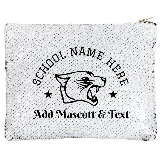 Custom School Pride Sequin Pouch